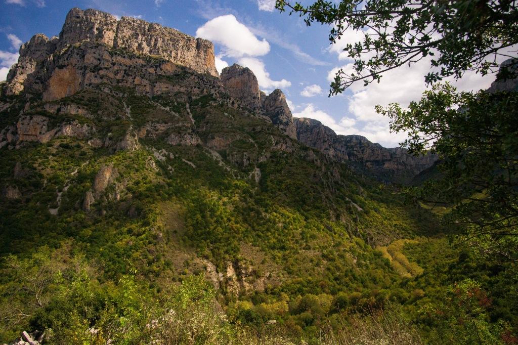 View of Vikos gorge
